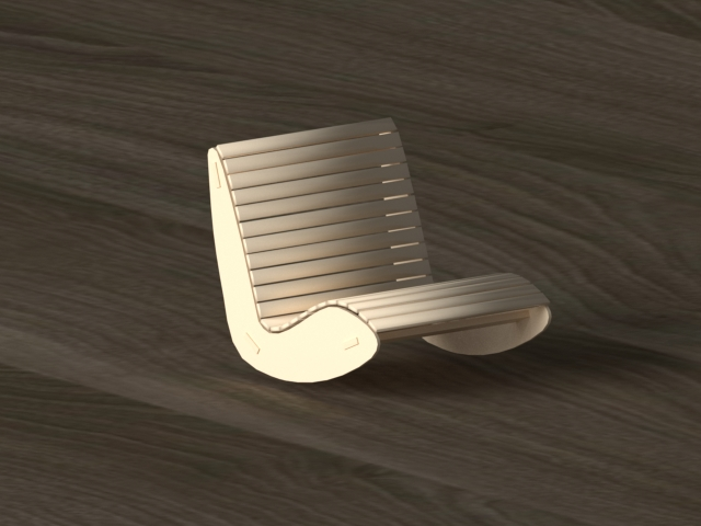 rocking chair 3d model 3ds max dwg fbx 297551
