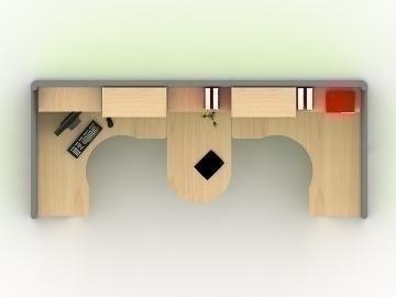 Executive Workstation 3d model max