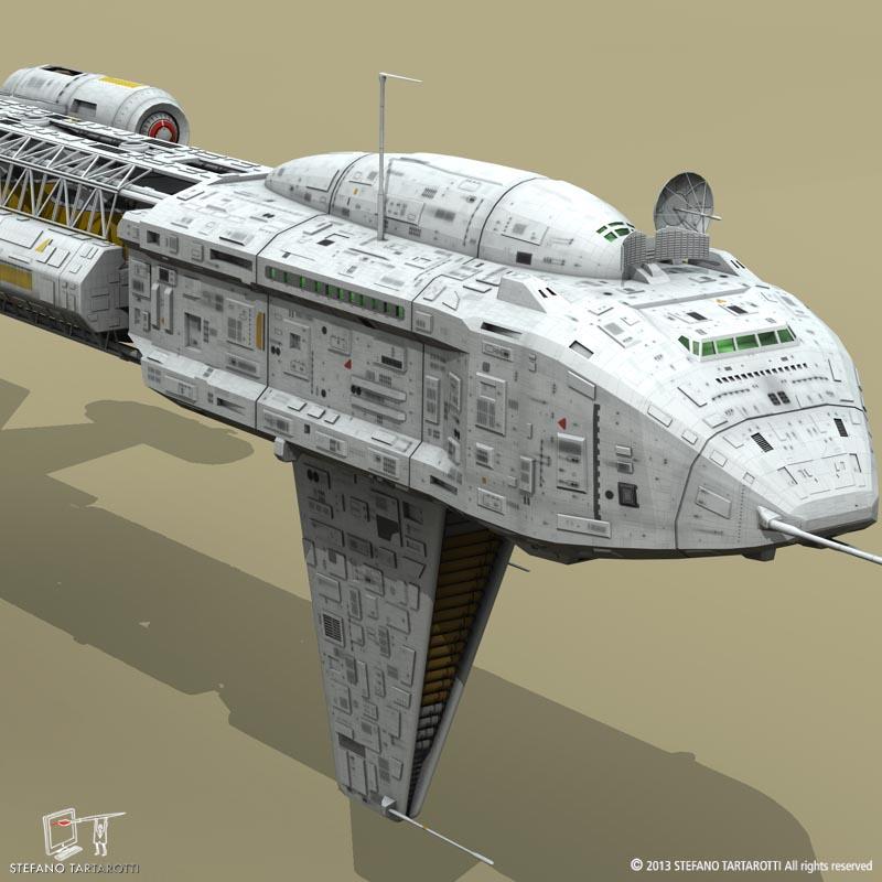 Spaceship 3d model 3ds dxf fbx c4d obj 167492