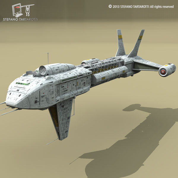 spaceship 3d model 3ds dxf fbx c4d obj 167493