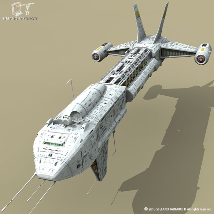 spaceship 3d model 3ds dxf fbx c4d obj 167494