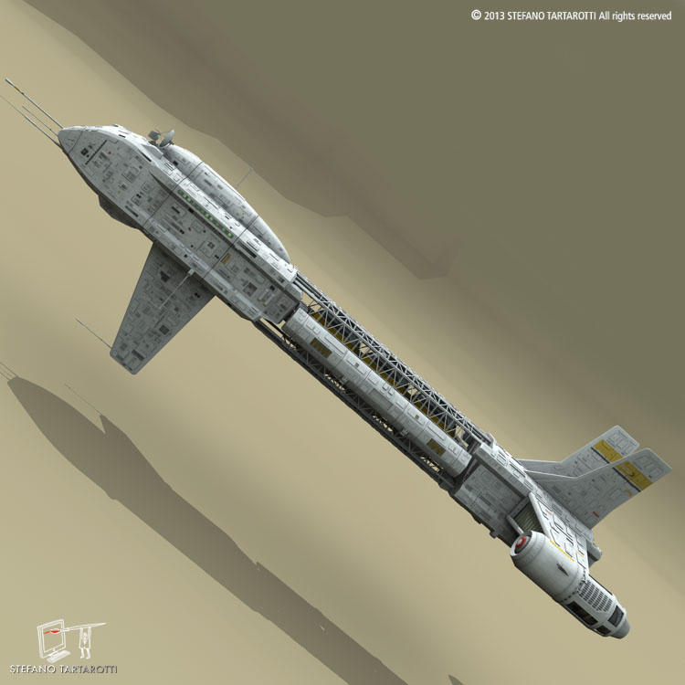 spaceship 3d model 3ds dxf fbx c4d obj 167496