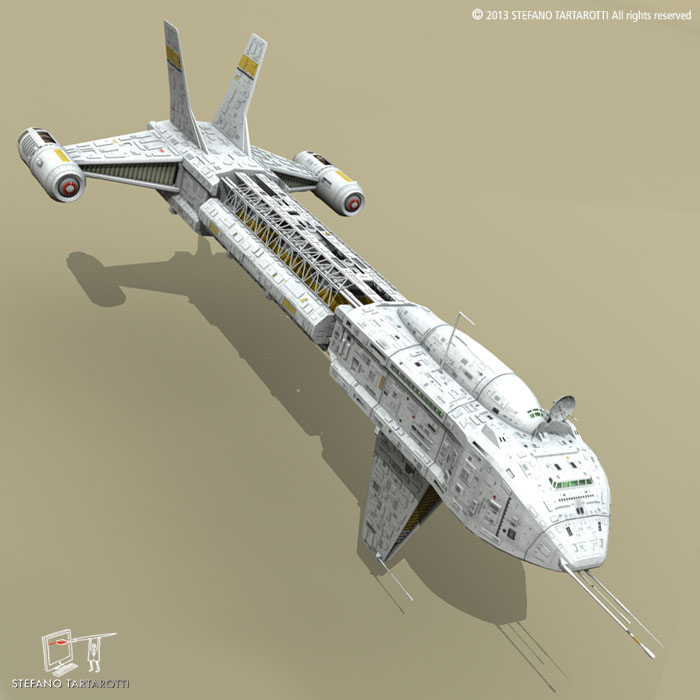 spaceship 3d model 3ds dxf fbx c4d obj 167497