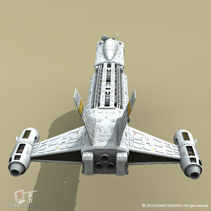 spaceship 3d model 3ds dxf fbx c4d obj 167498