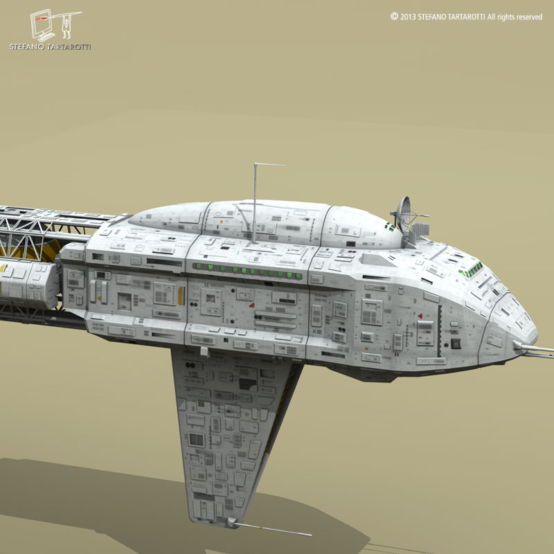 spaceship 3d model 3ds dxf fbx c4d obj 167505