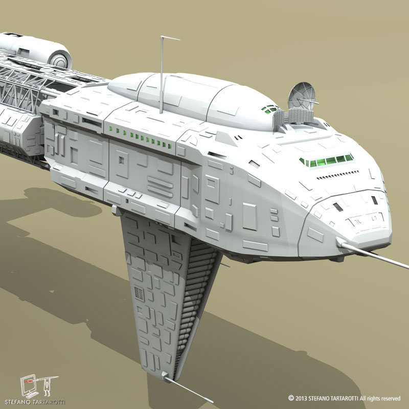 spaceship 3d model 3ds dxf fbx c4d obj 167506