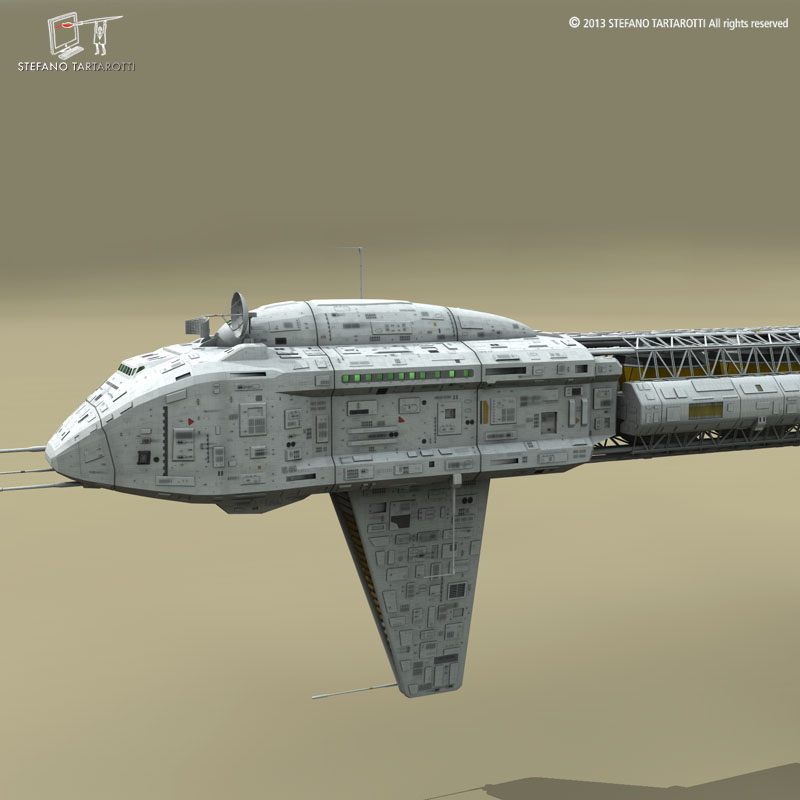 spaceship 3d model 3ds dxf fbx c4d obj 167507