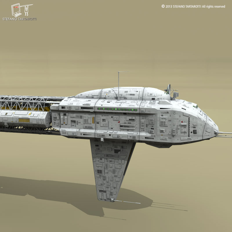 spaceship 3d model 3ds dxf fbx c4d obj 167508