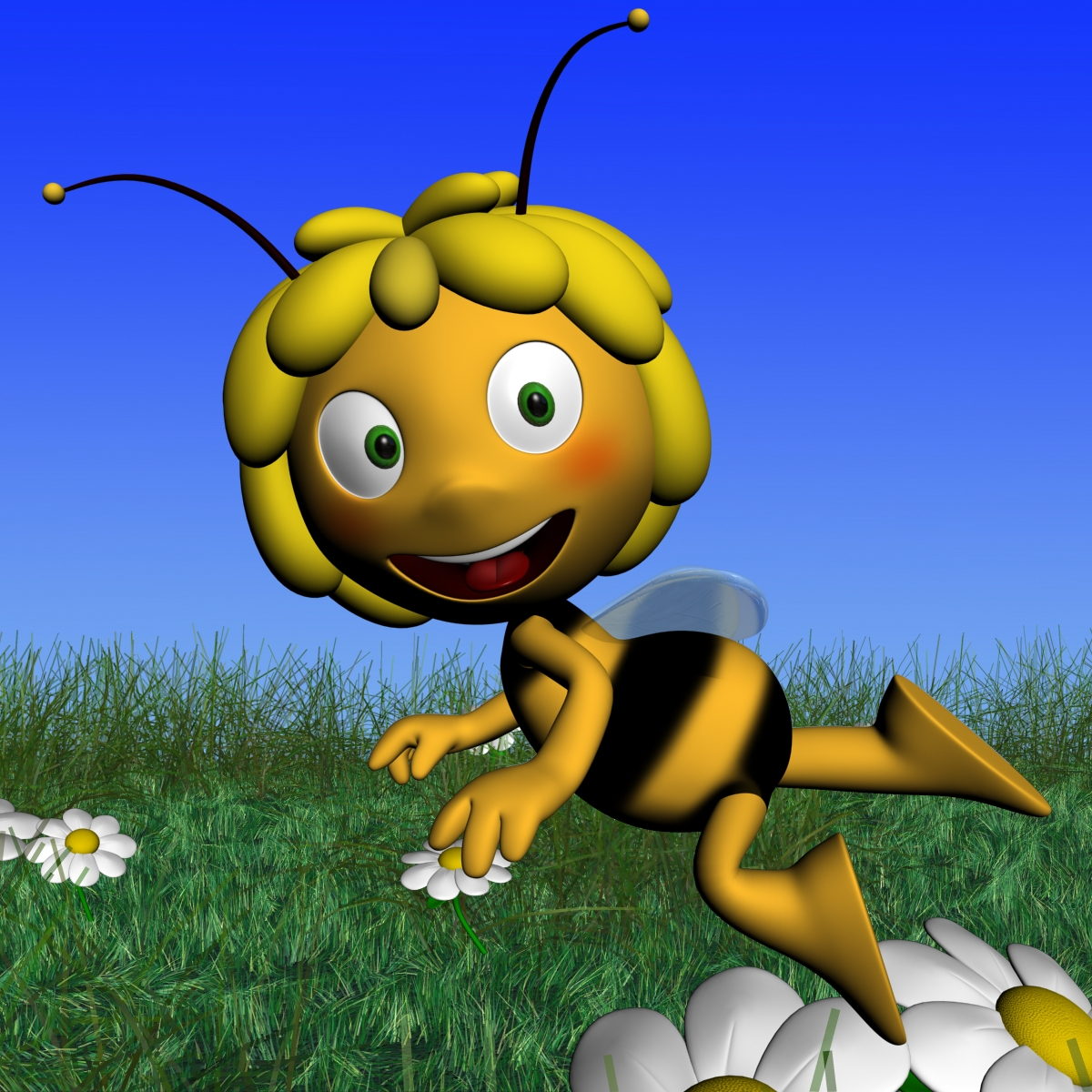 maya the bee rigged 3d model 3ds max fbx obj 170687