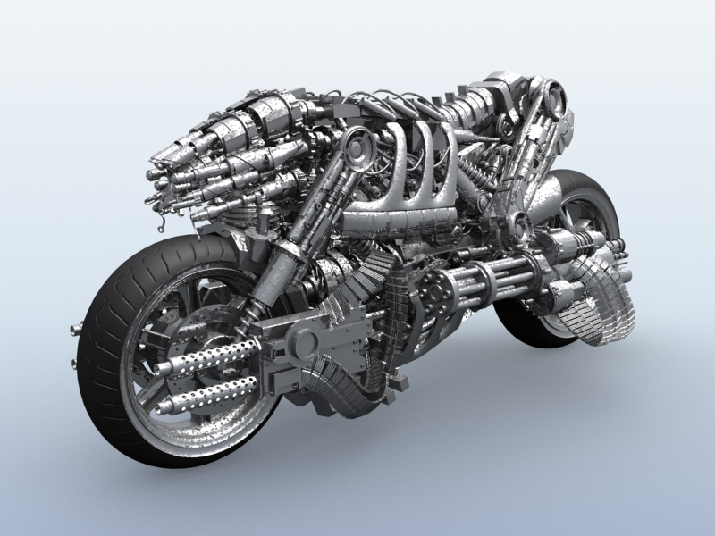 galinis robotas motociklas 3d modelis 3ds max fbx obj 170702
