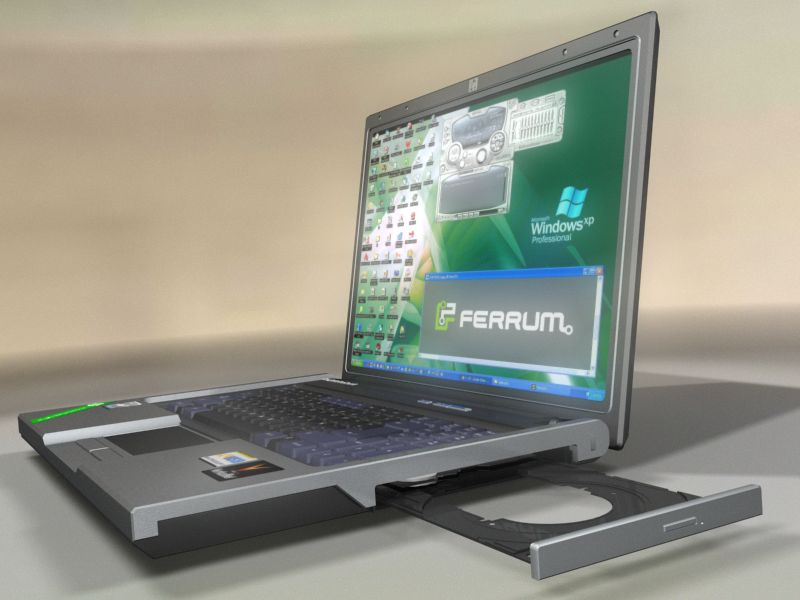 HP 500 Laptop notebook 3D Model | FlatPyramid