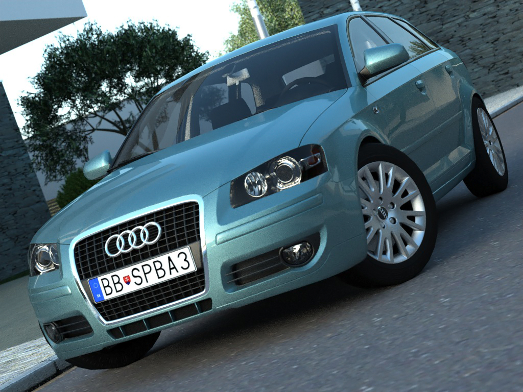 audi a3 sportback (2005) 3d model 3ds max fbx c4d obj 175854