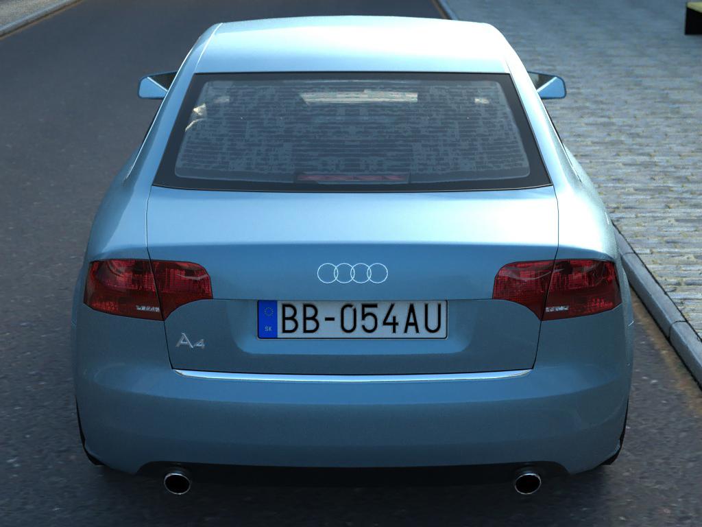 audi a4 (05) 3d model 3ds max fbx c4d obj 175881