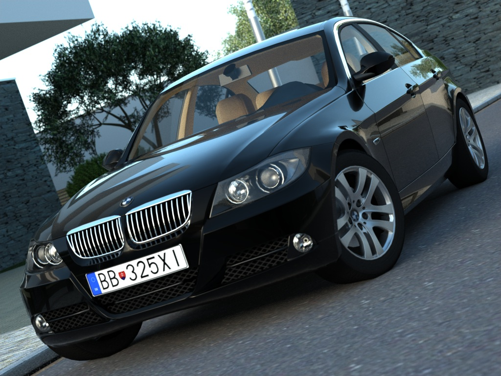 e90 3 series sedan (2007) 3d model 3ds max fbx c4d obj 175902
