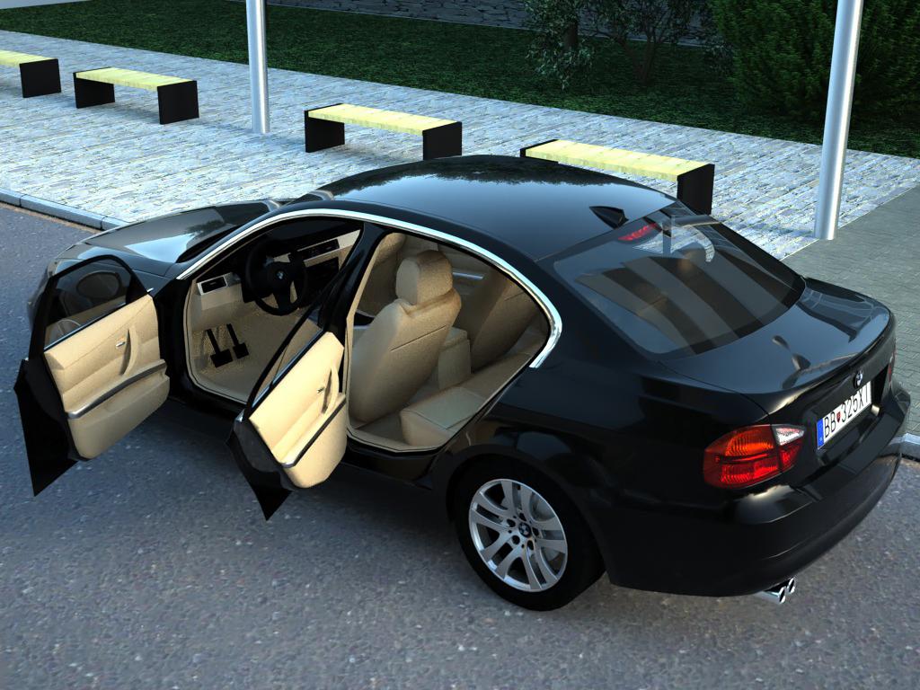 BMW 3 Series (2007) 3d Model 0