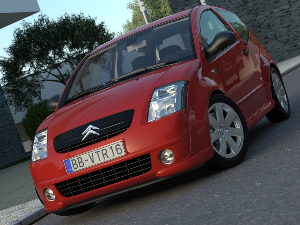 citroen c2 (2004) 3d model 3ds max fbx c4d obj 176016