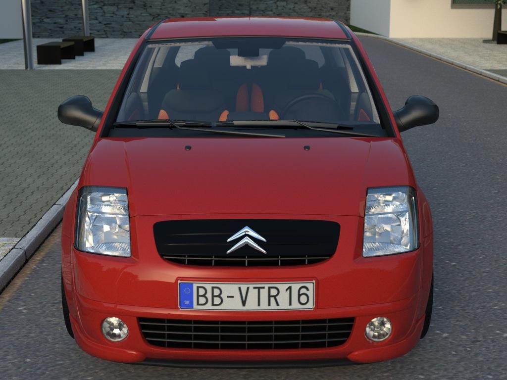 citroen c2 (2004) 3d model 3ds max fbx c4d obj 176019