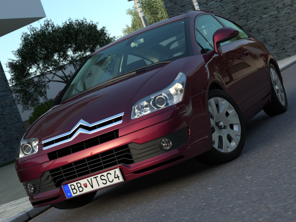 citroen c4 (2006) 3d model 3ds max fbx c4d obj 176047