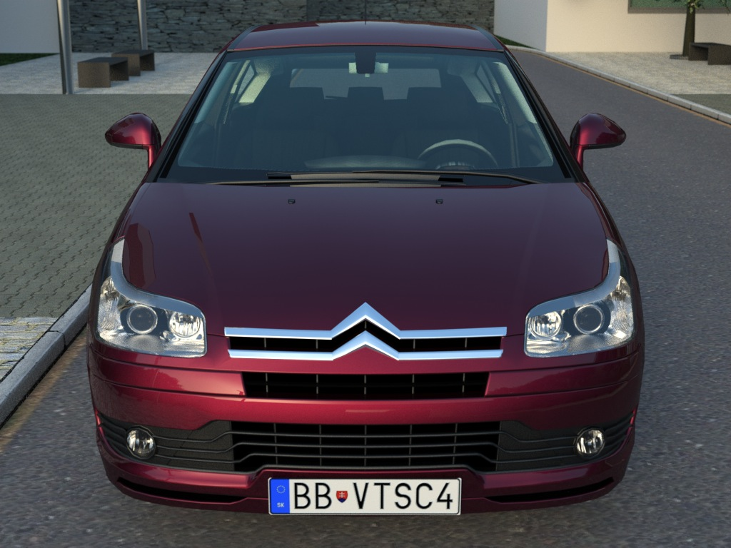 citroen c4 2006 3d model buy citroen c4 2006 3d model flatpyramid. Black Bedroom Furniture Sets. Home Design Ideas