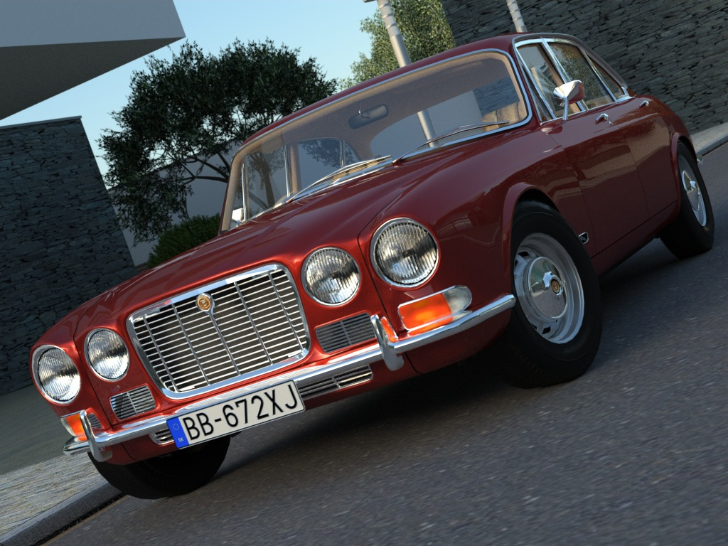 jaguar xj6 (1972) 3d model 3ds max fbx c4d obj 176075
