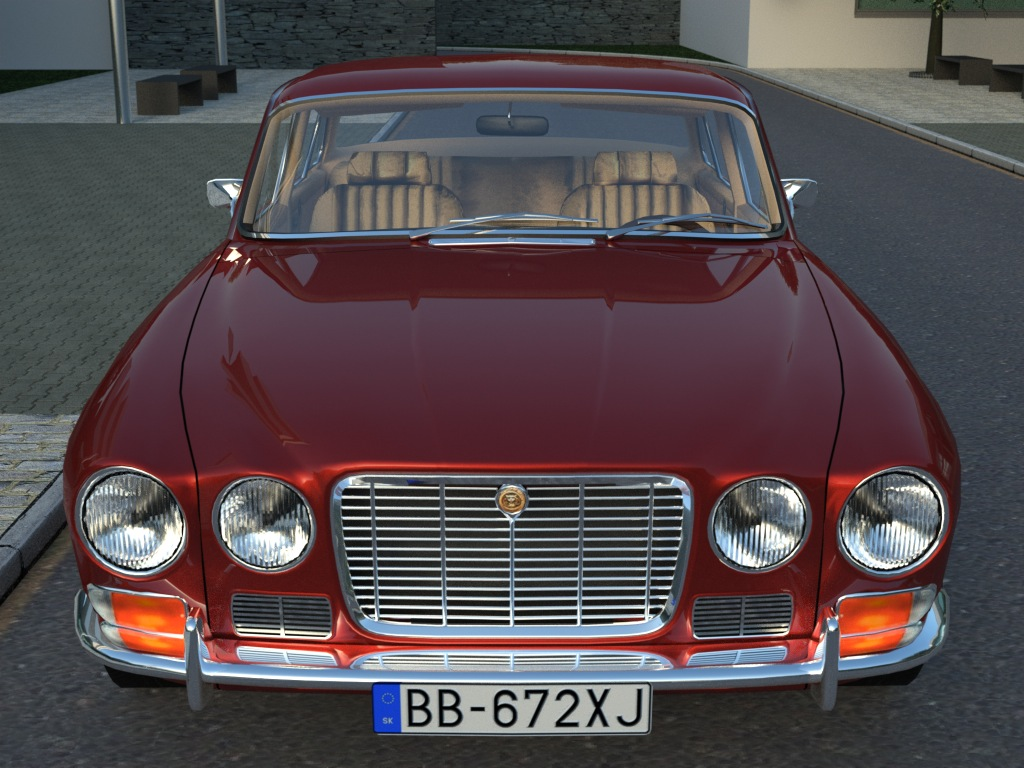 jaguar xj6 (1972) 3d model 3ds max fbx c4d obj 176078