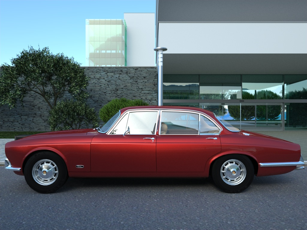jaguar xj6 (1972) 3d model 3ds max fbx c4d obj 176079