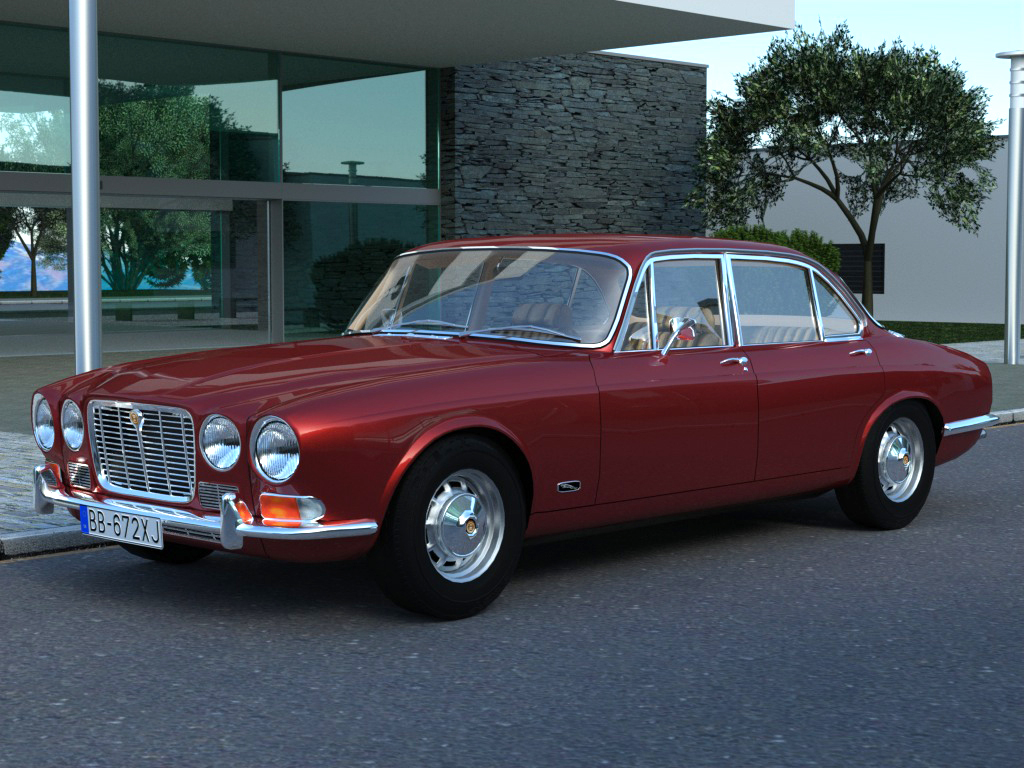 jaguar xj6 (1972) 3d model 3ds max fbx c4d obj 176080