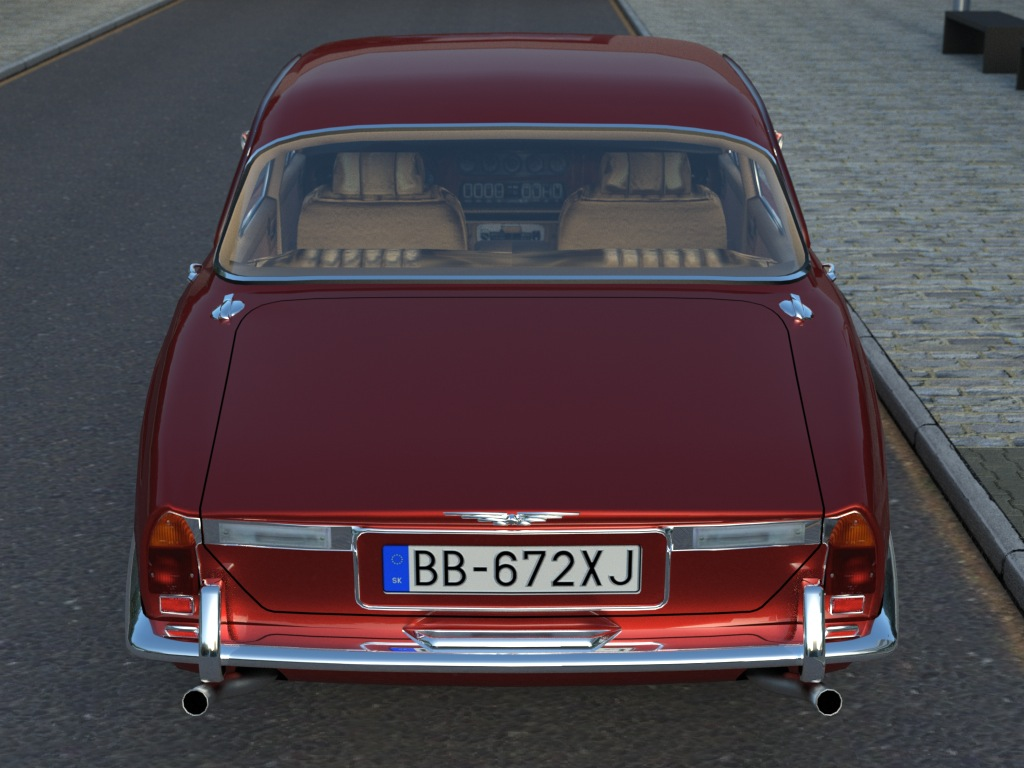 jaguar xj6 (1972) 3d model 3ds max fbx c4d obj 176082