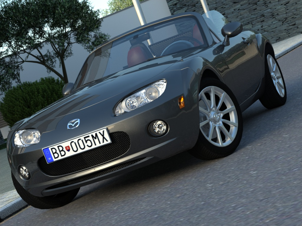 mazda mx5 (2007) 3d model 3ds max fbx c4d obj 176089