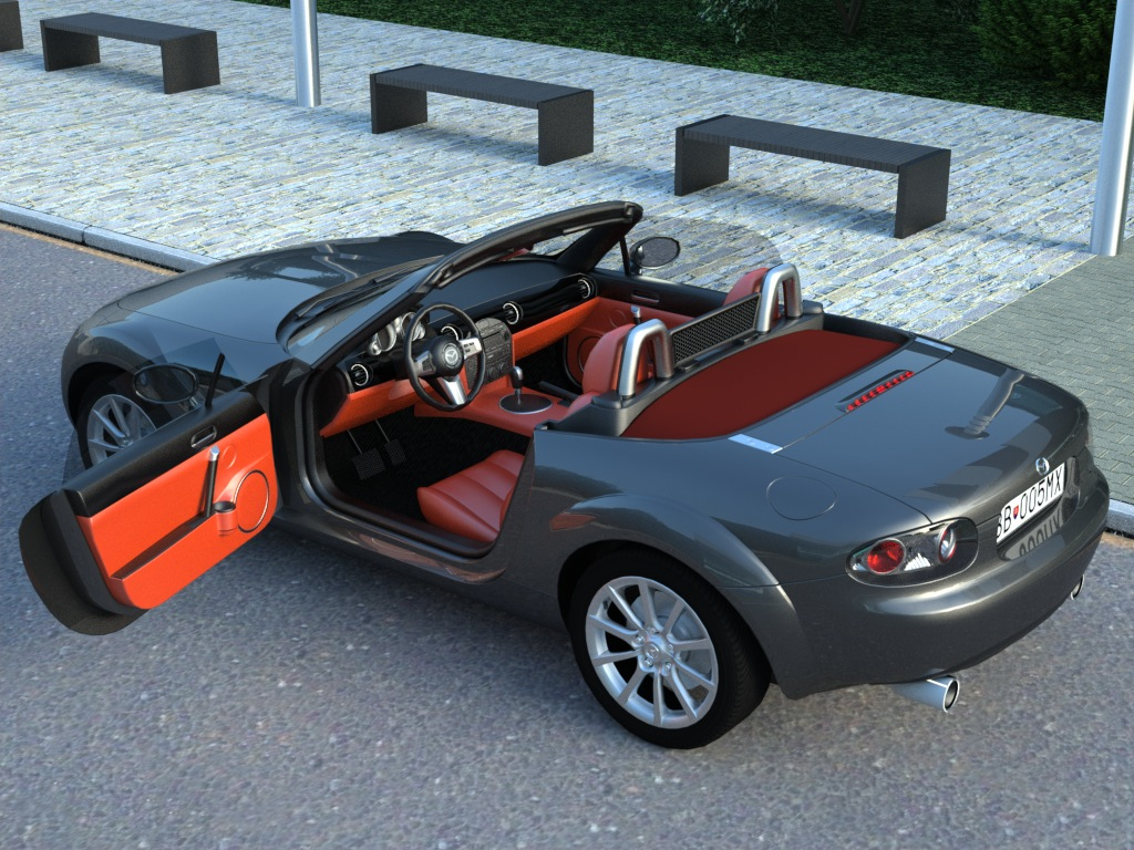 mazda mx5 2007 3d model buy mazda mx5 2007 3d model. Black Bedroom Furniture Sets. Home Design Ideas