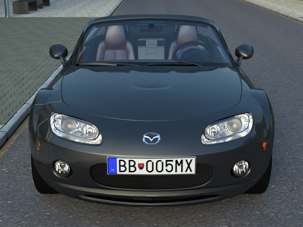 mazda mx5 (2007) 3d modeli 3ds max fbx c4d obj 176092