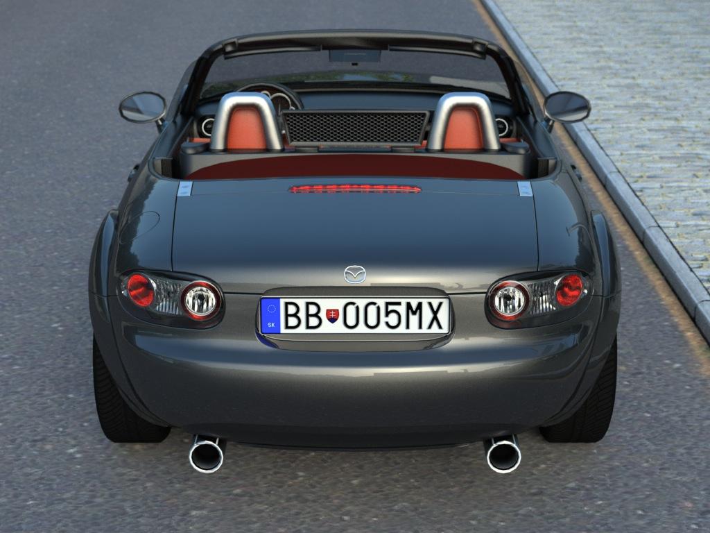 mazda mx5 (2007) 3d modeli 3ds max fbx c4d obj 176096