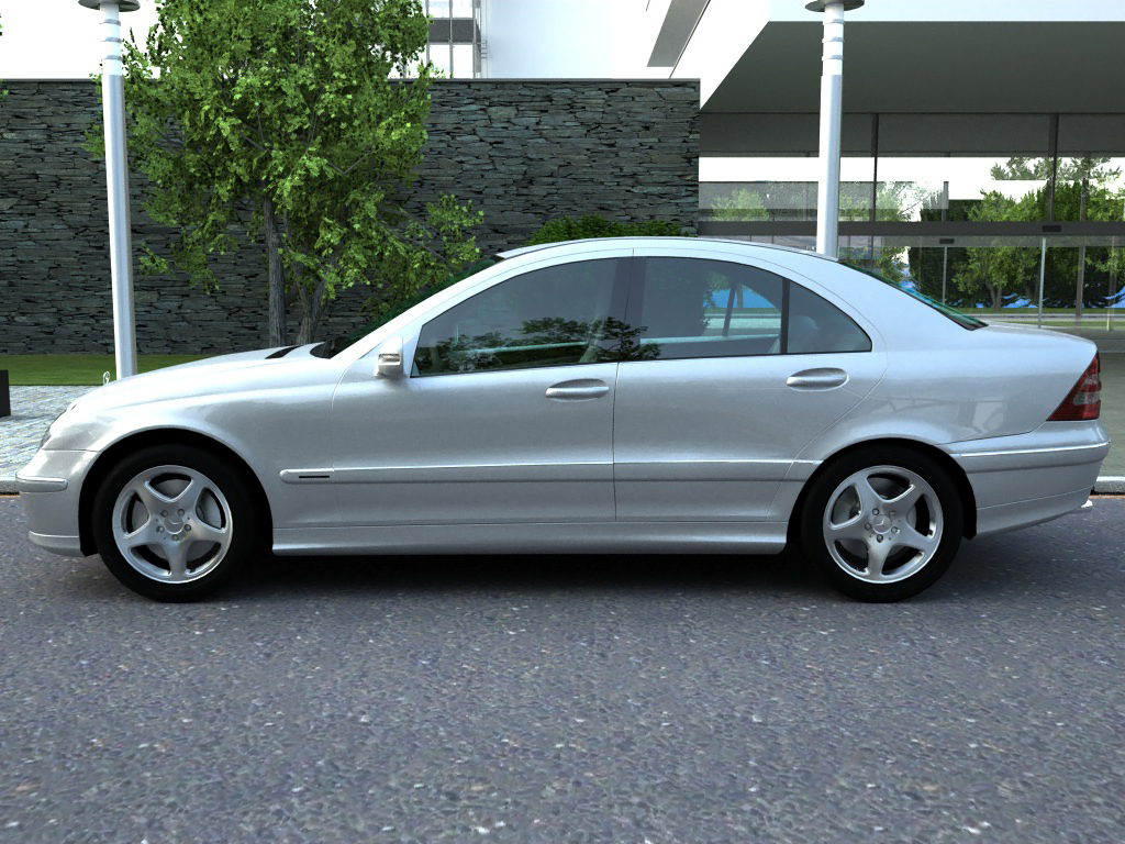Mercedes c class 2006 3d model buy mercedes c class for Mercedes benz c300 2006