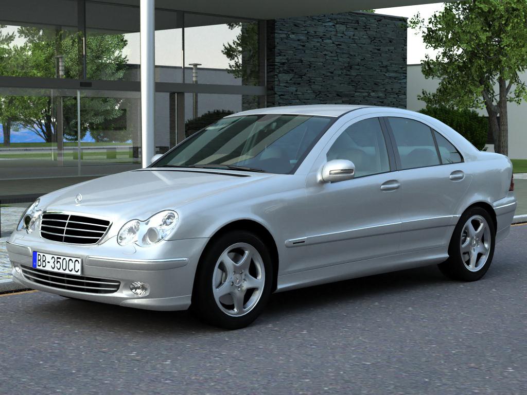 mercedes c class 2006 3d model buy mercedes c class 2006 3d model flatpyramid. Black Bedroom Furniture Sets. Home Design Ideas