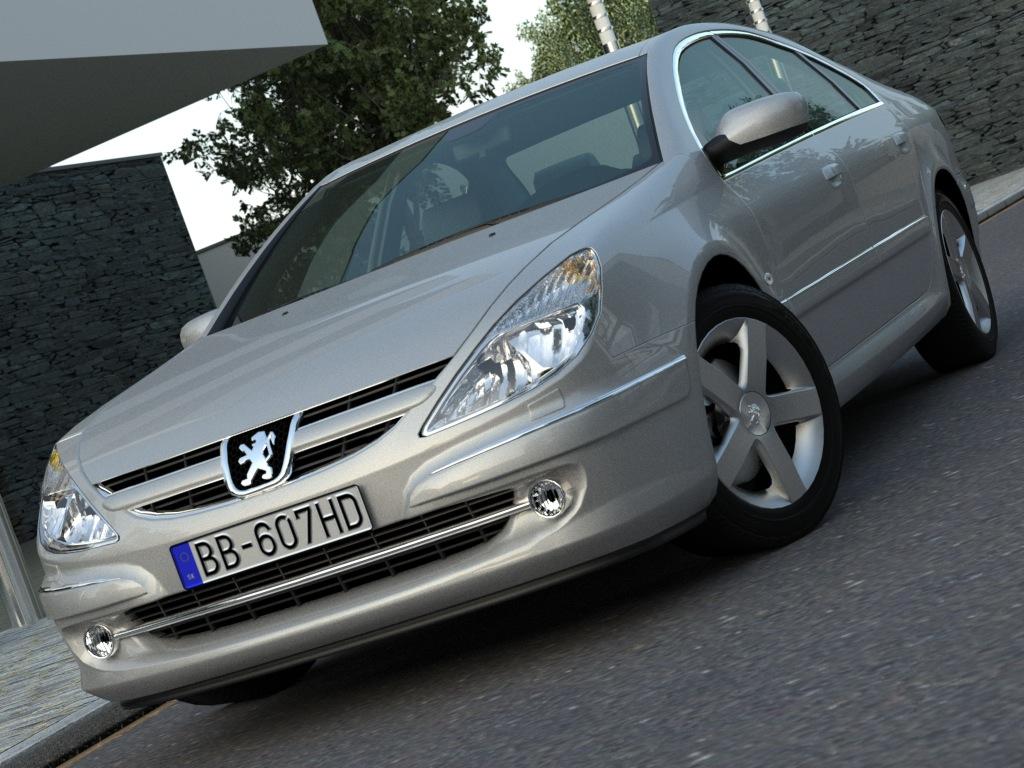 peugeot 607 (2007) 3d model 3ds max fbx c4d obj 176135