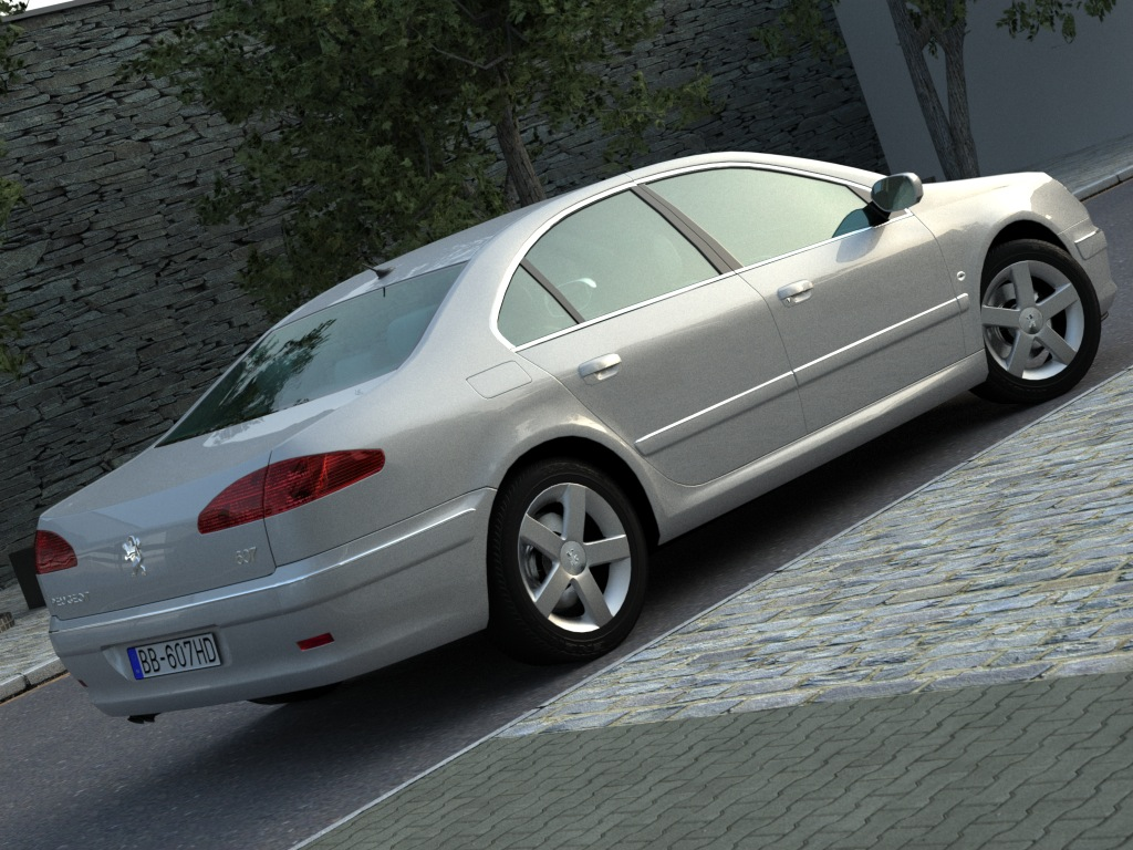 peugeot 607 (2007) 3d model 3ds max fbx c4d obj 176136