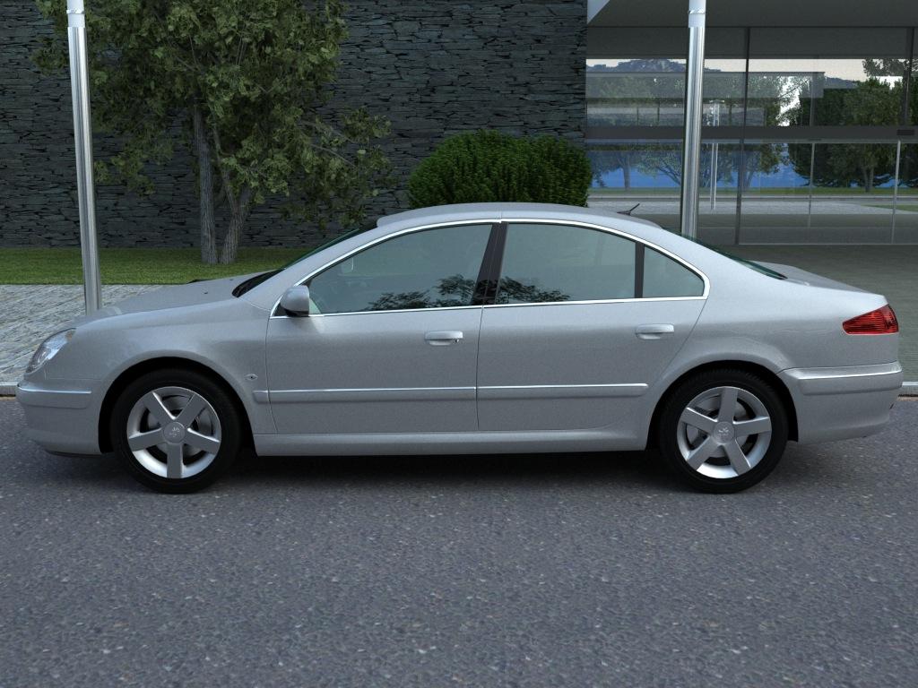peugeot 607 (2007) 3d model 3ds max fbx c4d obj 176139