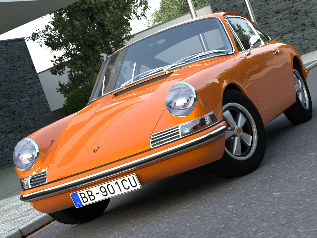 porsche 911 (1963) 3d model 3ds max fbx c4d obj 176149