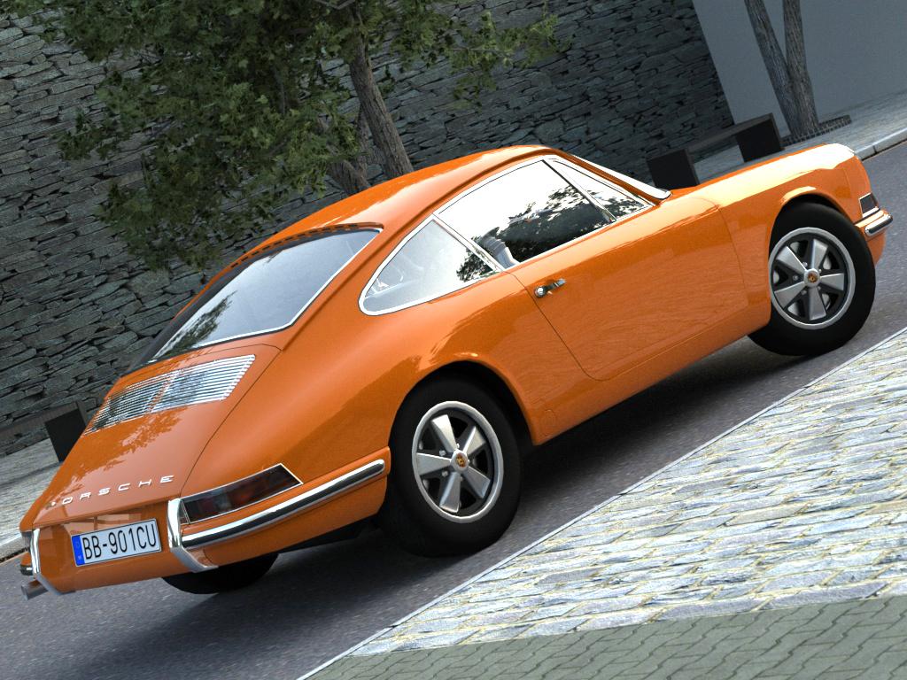 Porsche 911 1963 3d Model Buy Porsche 911 1963 3d