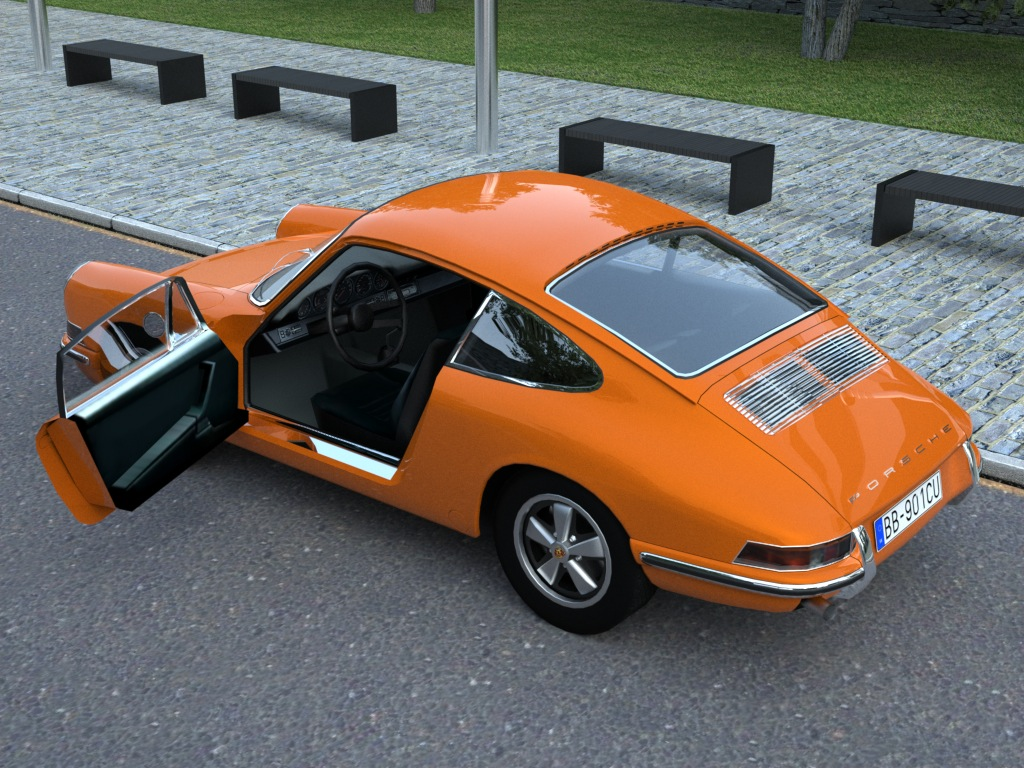 porsche 911 (1963) 3d model 3ds max fbx c4d obj 176151