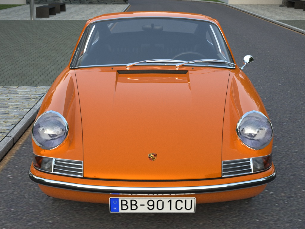 porsche 911 (1963) 3d model 3ds max fbx c4d obj 176152