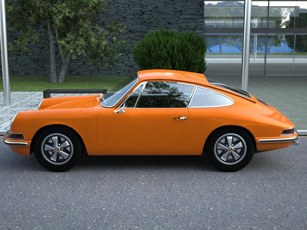 porsche 911 (1963) 3d model 3ds max fbx c4d obj 176153