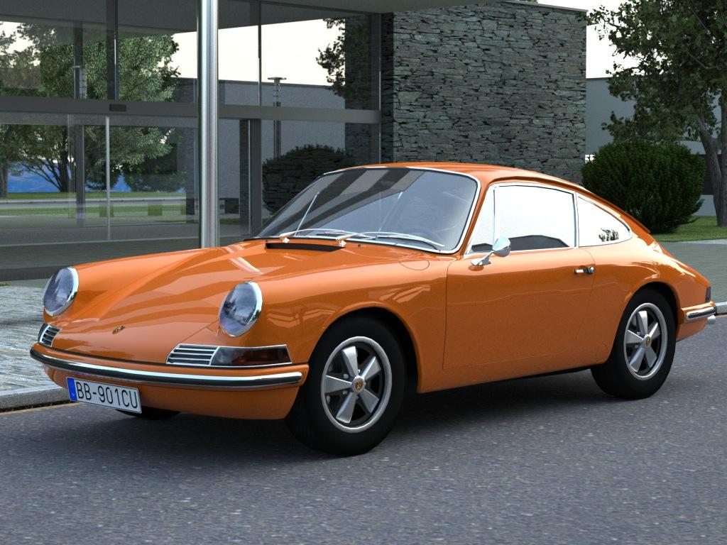 porsche 911 (1963) 3d model 3ds max fbx c4d obj 176154