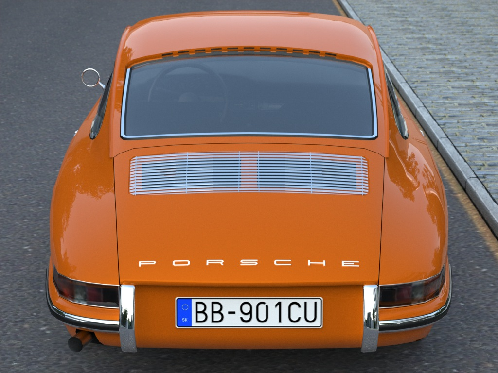 porsche 911 (1963) 3d model 3ds max fbx c4d obj 176156
