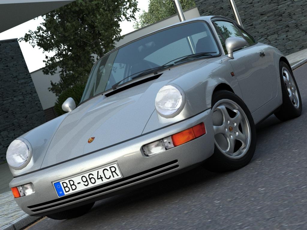 porsche 911 (1990) 3d model 3ds max fbx c4d obj 176169