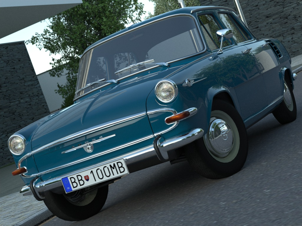 skoda 1000mb (1965) 3d model 3ds max fbx c4d obj 176183
