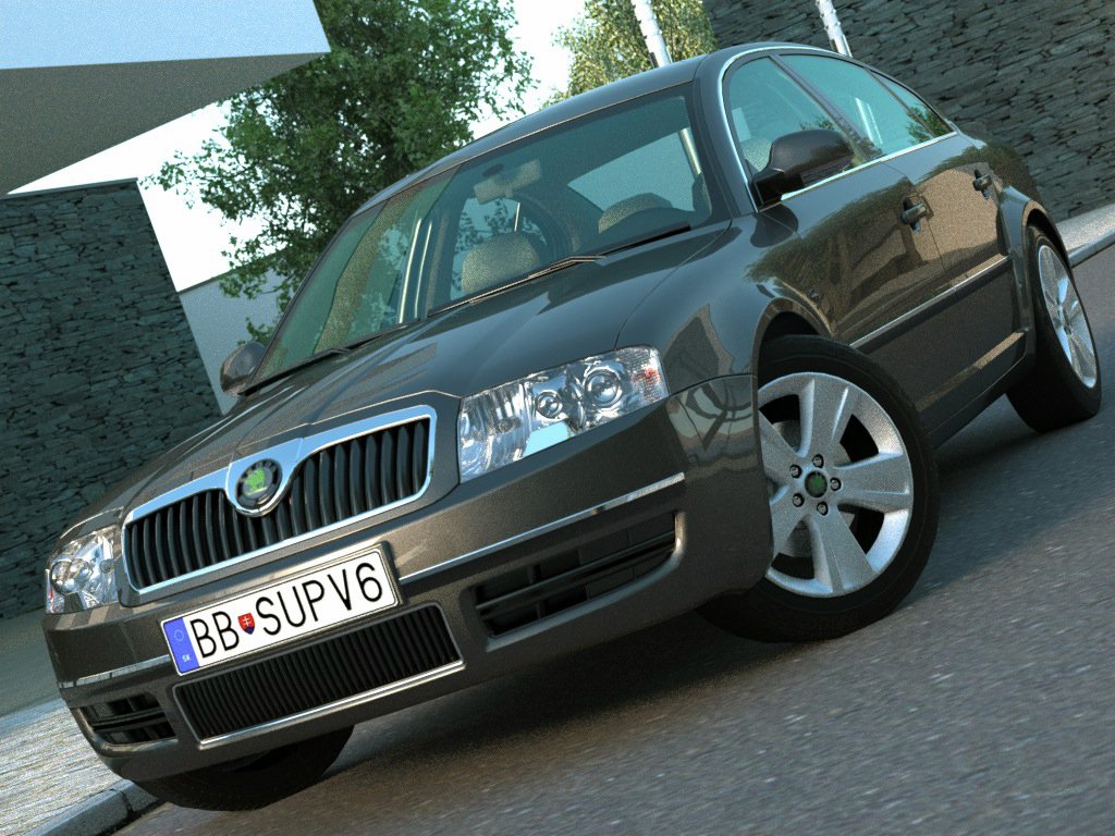 Skoda Superb (2006) 3d model 3ds max fbx c4d obj 176197