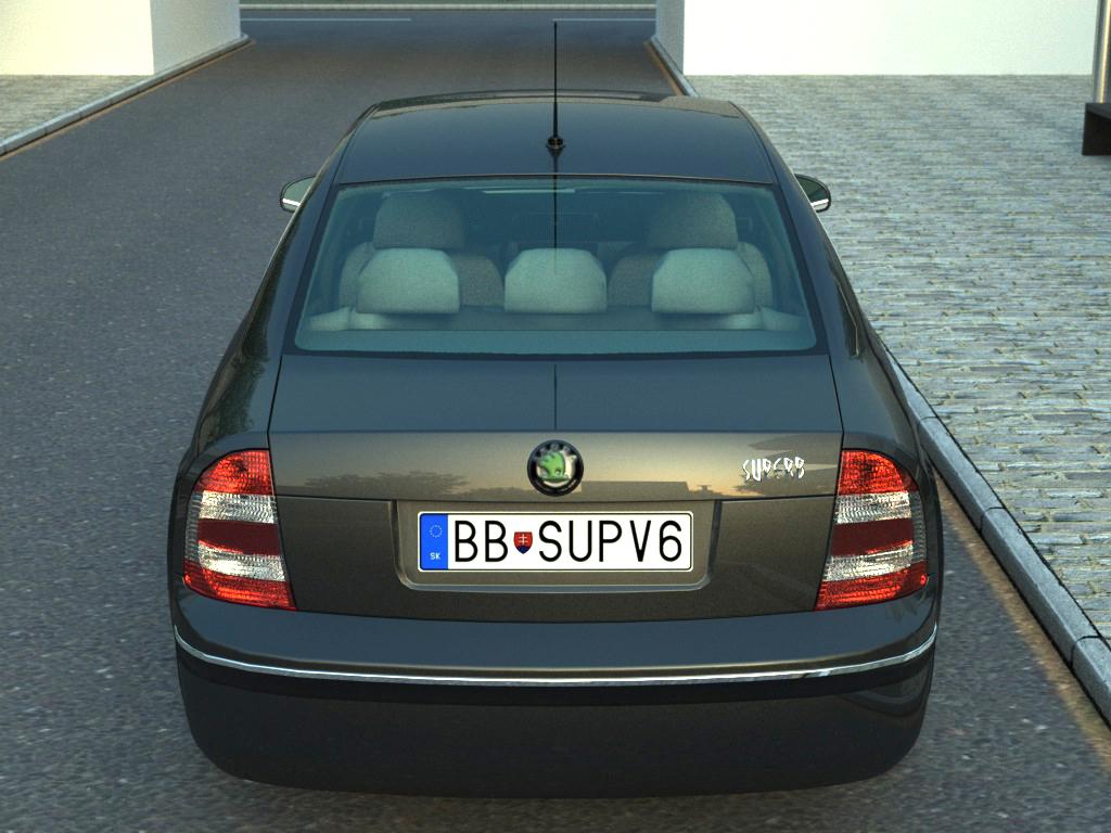 Skoda Superb (2006) 3d model 3ds max fbx c4d obj 176204