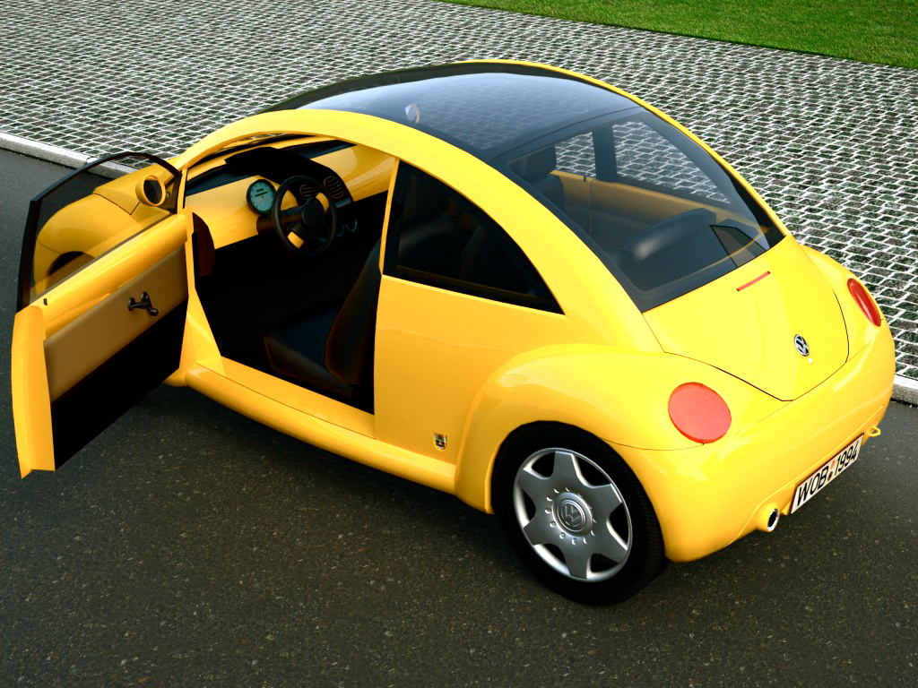 vw concept 1 (1994) 3d model 3ds max fbx c4d obj 176222