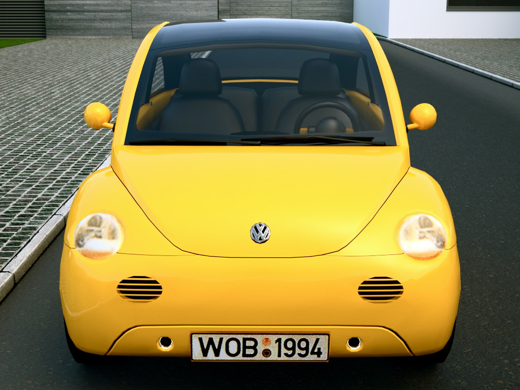vw concept 1 (1994) 3d model 3ds max fbx c4d obj 176223